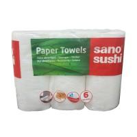Prosop hartie Sano Paper Towel Sushi Magic 2806, alb, 2 straturi, 6 buc / set
