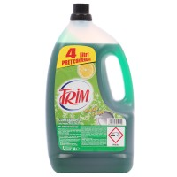 Detergent lichid pentru vase Trim, aroma lamaie si otet, 4 l