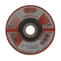 Disc polizare otel, Carbochim  11ABACH27E, 125 x 22.2 x 8 mm