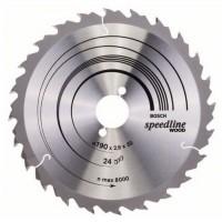 Disc circular, pentru lemn, Bosch Speedline Wood, 2608640801, 190 x 30 mm