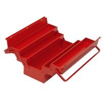 Cutie metalica pentru scule, rabatabila, cu 5 compartimente, 450 x 200 x 200 mm