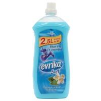 Balsam de rufe Evrika Soft, parfum floral, iris albastru si iasomie, 2.5 L