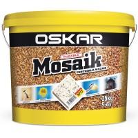 Tencuiala decorativa acrilica, interior / exterior, Oskar Mosaik 9717, mozaicata, 25 kg