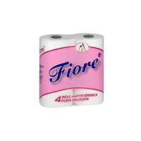 Hartie igienica Fiore, celuloza, 2 straturi, 4 role