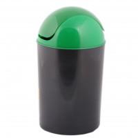 Cos gunoi flip-flap Plastor Delta 42312/3848 din polipropilena, forma cilindrica, diverse culori, 12L