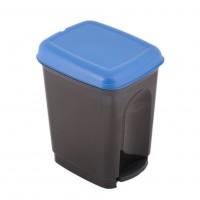 Cos gunoi Caro Plastor din polipropilena, cu pedala, forma cilindrica, diverse culori, 17L