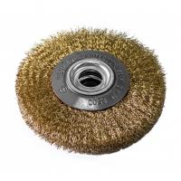 Perie circulara, pentru lustruire si decapare, pentru lemn / fier, Lumytools LT06978, diametru 125 mm