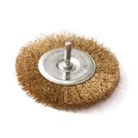 Perie circulara, cu tija, pentru lustruire si decapare, pentru lemn / fier, Lumytools LT06985, diametru 75 mm