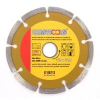 Disc diamantat, cu segmente, pentru debitare beton, Lumytools LT08712, 125 x 22.2 x 2 mm