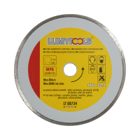 Disc diamantat continuu, pentru debitare placi ceramice, Lumytools LT08734, 180 x 22 x 2 mm