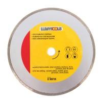 Disc diamantat, continuu, pentru debitare placi ceramice / marmura / sticla / piatra, Lumytools LT08735, 230 x 22 x 2.5 mm