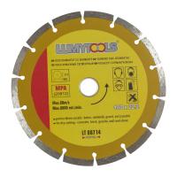 Disc diamantat, cu segmente, pentru debitare materiale de constructii, Lumytools LT08714, 180 x 22 x 2 mm