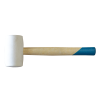 Ciocan cauciuc, Lumytools LT33930, alb, coada lemn, 55 mm