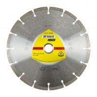 Disc diamantat, cu segmente, pentru debitare materiale de constructii, Klingspor DT 300 U Extra, 230 x 22.23 x 2.3 mm