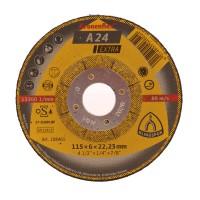 Disc polizare metal, Klingspor A 24 Extra, 115 x 22.23 x 6 mm
