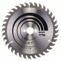 Disc circular, pentru lemn, Bosch Optiline Wood, 2608640597,  160 x 20/16 x 2.6 mm