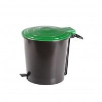 Cos gunoi Plastor 38717/1709 din polipropilena, cu pedala, forma cilindrica, diverse culori, 10L