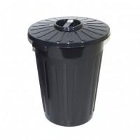Europubela cu capac, negru, 60L