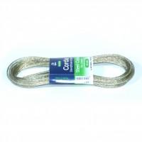 Sarma pentru suport rufe, silver, din fir metalic + polietilena, 100 cm