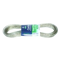 Fir pentru suport rufe, silver, din fir metalic + polietilena, 10 m