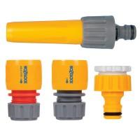 Lancie + conector + adaptor 12,5 mm + adaptor mm Hozelock pentru irigatii gradina, pvc