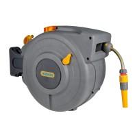 Tambur pentru furtun, Hozelock AutoReel + dispozitiv perete + 20 m furtun, 12.5 mm
