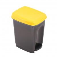 Cos gunoi Caro Plastor din polipropilena, cu pedala, forma cilindrica, diverse culori, 7L