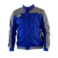 Jacheta de lucru Asimo, poliester si bumbac, albastra, cu buzunare, marimea 50