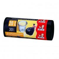 Saci menajeri / gunoi Fino HD, negru, 20L, 30 buc