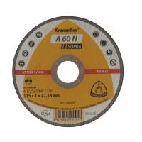 Disc debitare aluminiu, Klingspor A 60 N Supra, 115 x 22.23 x 1 mm