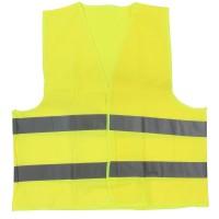 Vesta semnalizare cu banda reflectorizanta, Neon 9195, galben, marimea L