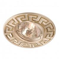 Spot incastrat ELC 329 70097, GU10, orientabil, auriu / perla argint