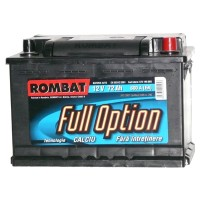 Baterie auto Rombat full option 12V, 77Ah, 600 A, 27.8  x  17.5  x  19 cm
