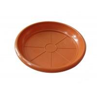 Farfurie ghiveci 2042, plastic, rotund, maro, D 12 cm