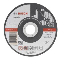 Disc debitare inox, Bosch Best for Inox - Rapido Long Life, 125 x 22.23 x 1