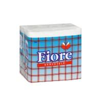 Servetele de masa Fiore, albe, 1 strat, 25 x 25 cm, 100 buc / pachet