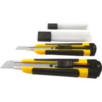 Set 2 cuttere cu protectie, Lumytools LT76240, 9 mm / 18 mm + 5 rezerve 9 mm + 5 rezerve 18 mm