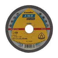 Disc debitare inox, Klingspor A 36 R Supra, 125 x 22.23 x 2 mm