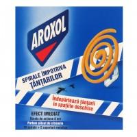 Insecticid spirale impotriva tantarilor Aroxol, 10 buc + 2 suporturi metalice