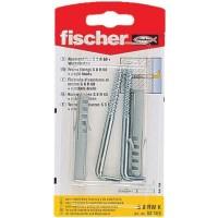 Diblu universal din nylon, cu surub cu carlig in vinclu, Fischer, 8 x 60 mm, 2 bucati