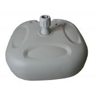 Suport umbrela, ZR2751, PVC, forma patrata, rezistenta UV, 20 l, 43 x 43 x 25 cm
