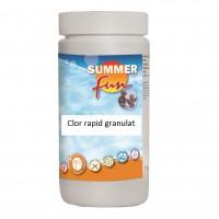 Clor rapid granulat Summer Fun, pentru apa piscina, 1 kg