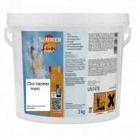Clor Maxi tablete de 200 grame, Summer Fun, pentru apa piscina, 3 kg
