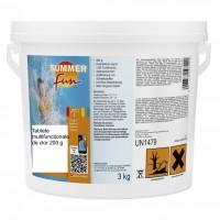 Clor multifunctional tablete de 200 grame, Summer Fun, pentru apa piscina, 3 kg