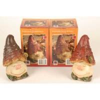 Figurina ciuperca, din ceramica, decoratiune gradina, H 17 cm, 2 modele
