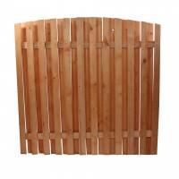 Gard lemn, Rustic, pentru gradina, solid, 180 x 180 cm