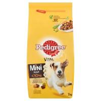 Hrana uscata pentru caini de talie mica, Pedigree Vital Protection Mini Adult, adult, carne de pasare si legume, 2kg