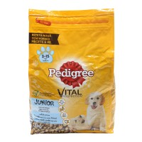 Hrana uscata pentru caini de talie medie, Pedigree Vital Protection junior, carne de pui si orez, 3kg