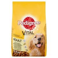 Hrana uscata pentru caini, Pedigree Vital Protection, adult, carne de pasare si legume, 8.4kg