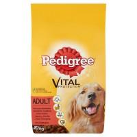 Hrana uscata pentru caini, Pedigree Vital Protection, adult, carne de vita si pasare, 10kg